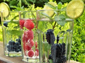 WaterGlasswithBerries