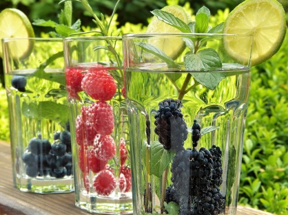 WaterGlasswithBerries